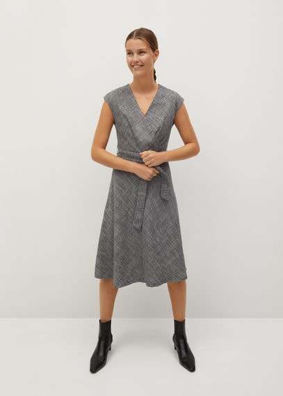 Клетчатое платье с ремешком - Goa