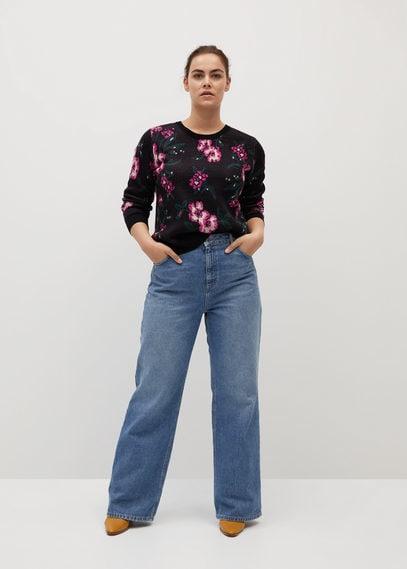 Джемпер с цветочной вышивкой - Flor