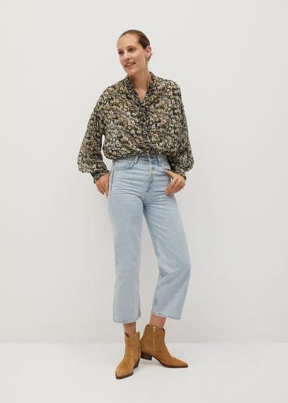 Полупрозрачная блузка с принтом - Garden
