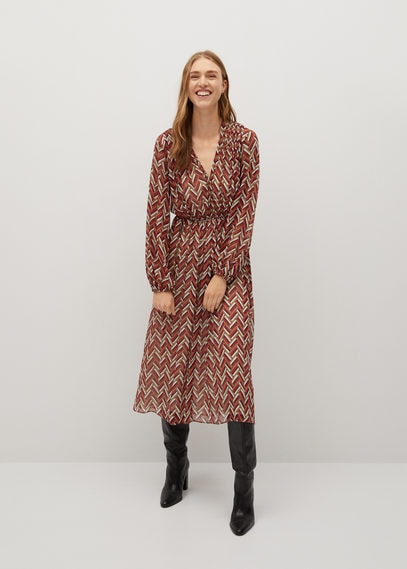 Платье с этническим принтом - Ziggy