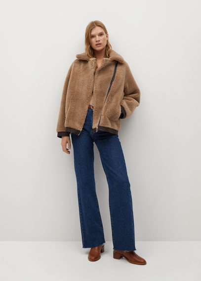 Двусторонняя куртка с искусственной овчиной - Tabasco
