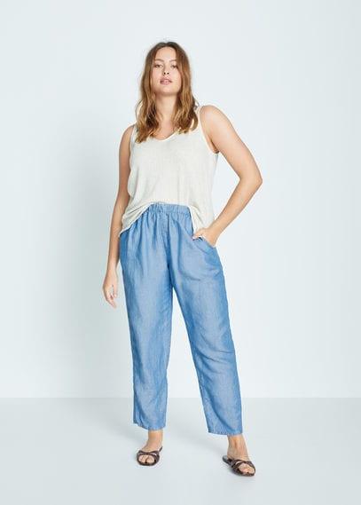 Льняные брюки багги - Bag