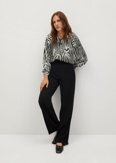 Блузка с принтом зебра - Zebra