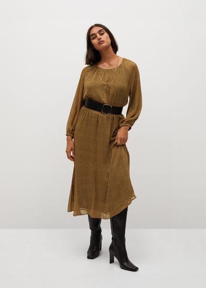 Миди-платье в горошек - Topos7