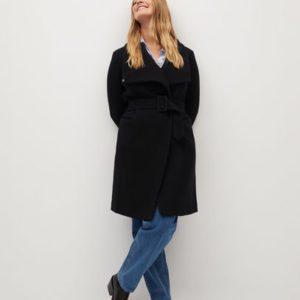 Асимметричное пальто из шерсти - Rosi7