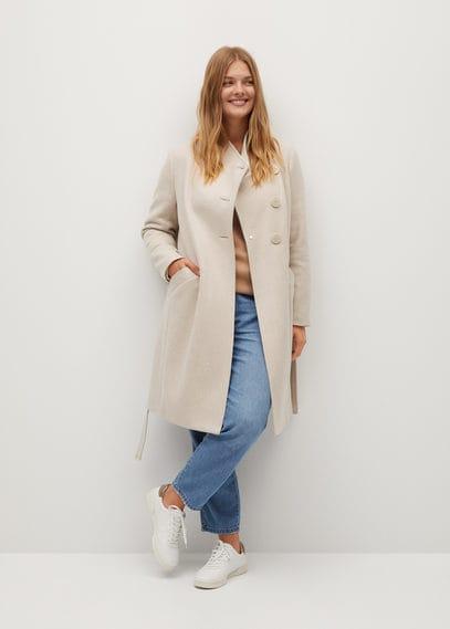 Асимметричное пальто из шерсти - Tierra