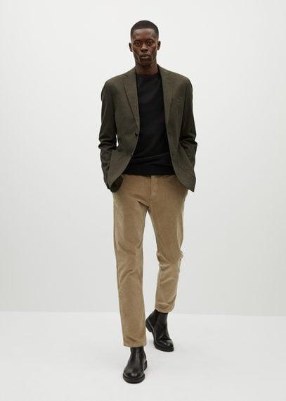 Хлопковый пиджак slim fit - Aneto