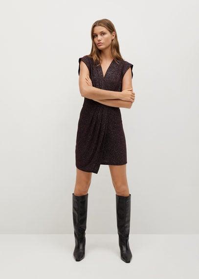 Блестящее фактурное платье - Brilli7