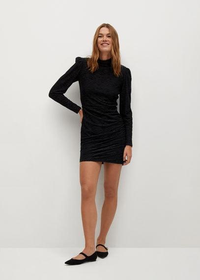 Блестящее платье с драпировкой - Pluma
