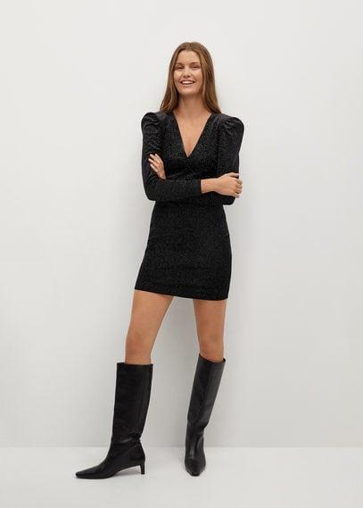Блестящее фактурное платье - Vikypic7