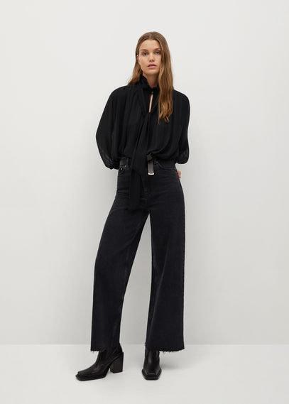 Струящаяся фактурная блузка - Rina