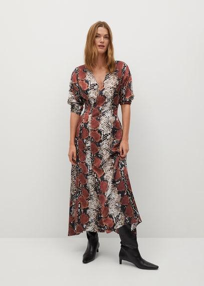 Платье со змеиным принтом - Gliter