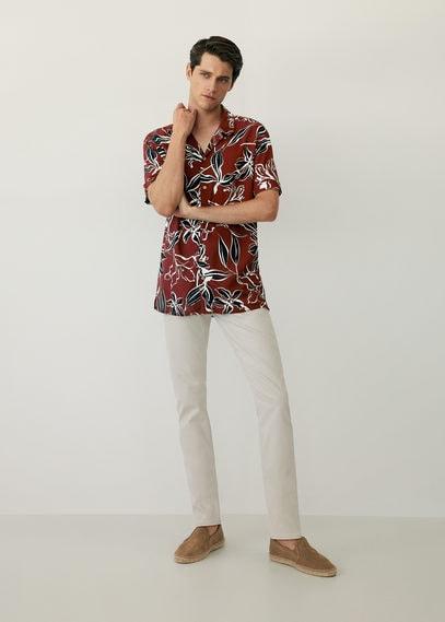 Струящаяся рубашка с гавайским принтом - Same