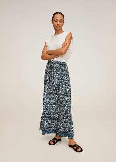 Длинная юбка с принтом - Doha