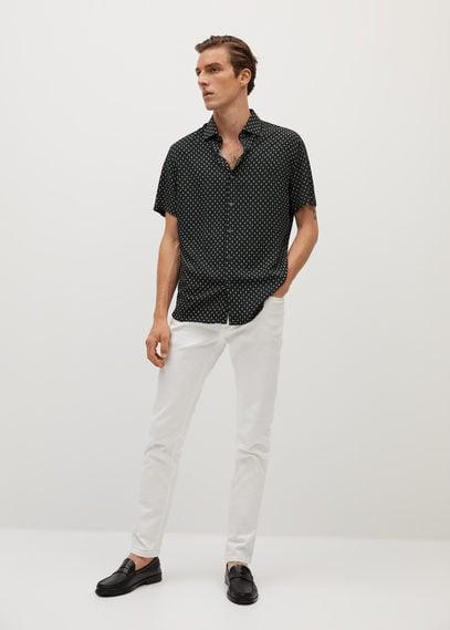 Приталенная рубашка с мозаичным принтом - Trace