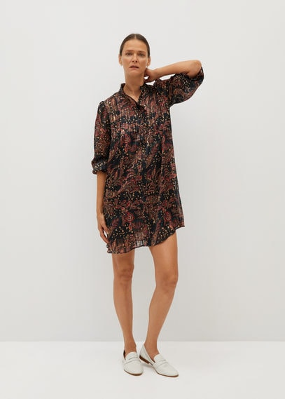 Платье с принтом пейсли - Cache