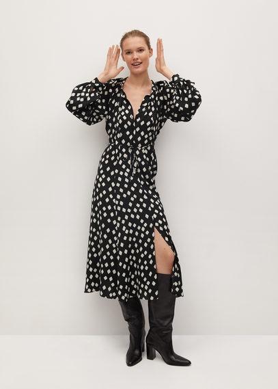 Миди-платье с геометрическим принтом - Rombo