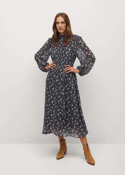 Платье с принтованными цветами - Elisa