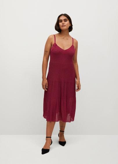 Плиссированное платье с люрексом - Baute