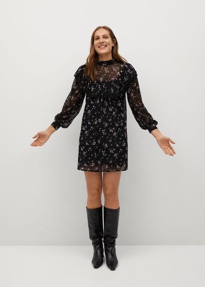 Платье с рукавами-фонариками - Nori