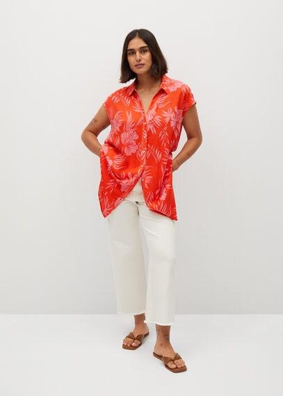 Рубашка с тропическим принтом - Hawai