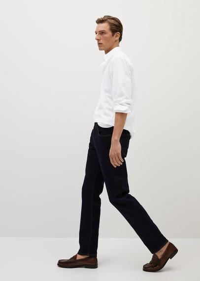 Хлопковая рубашка regular fit с карманом - Talper