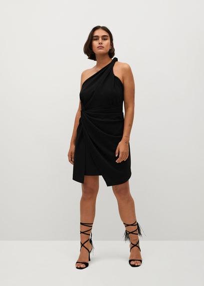 Асимметричное платье со сборками - Natasha