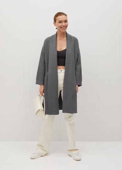 Длинное пальто из трикотажа - Saint