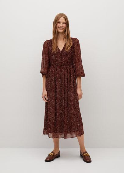 Струящееся платье с принтом - Garden
