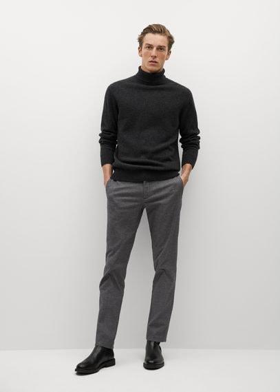 Хлопковые брюки slim fit с фактурной выделкой - Brist