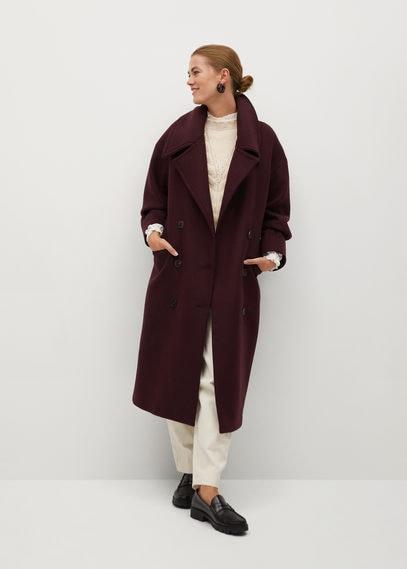 Двубортное пальто из шерсти - Granada