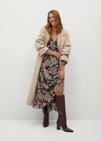 Платье с цветочным узором - Julia