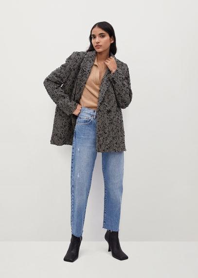 Объемный пиджак с узором - Foxi