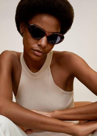 Солнцезащитные очки в стиле ретро под черепаху - Maria