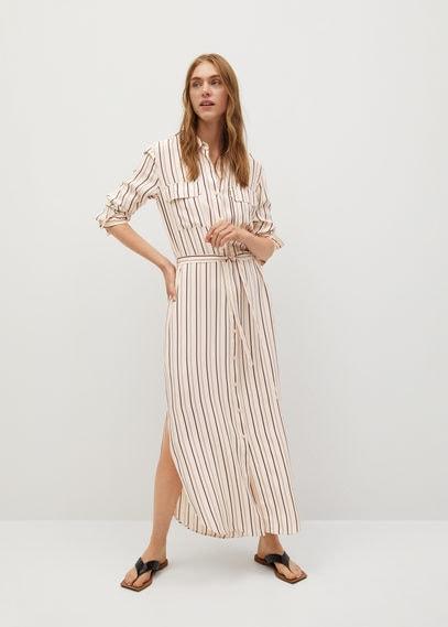 Платье-рубашка в полоску - Box-i