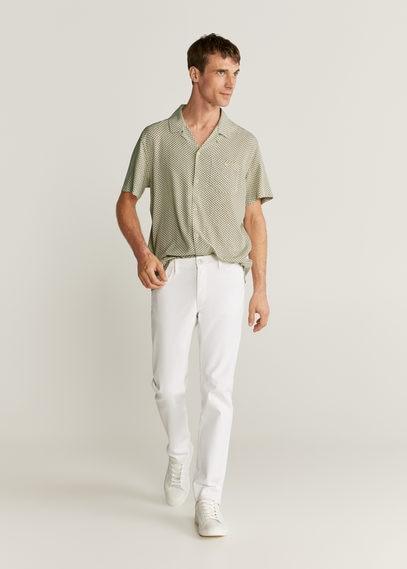 Рубашка regular fit с геометрическим принтом - Tese