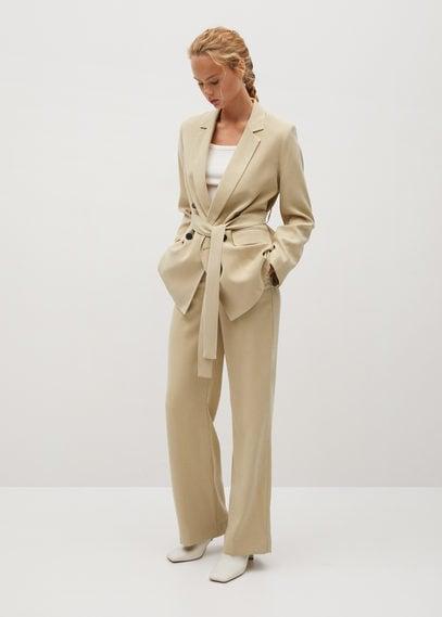 Костюмный пиджак с поясом - Tenzi