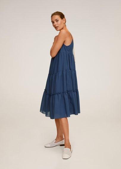 Миди-платье с воланами - Furbi-h