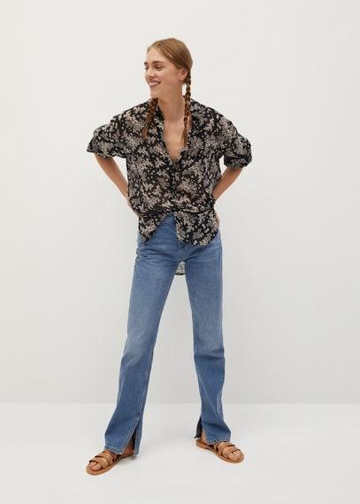 Струящаяся рубашка с принтом - Arizona