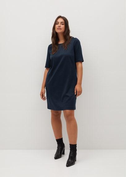 Короткое платье с принтом - Jack