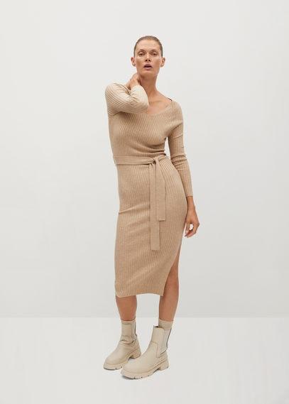 Трикотажное платье в резинку - Goleta