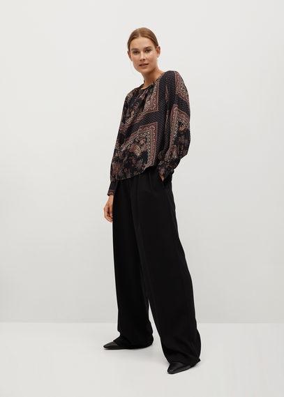 Струящаяся блузка с принтом - Eros
