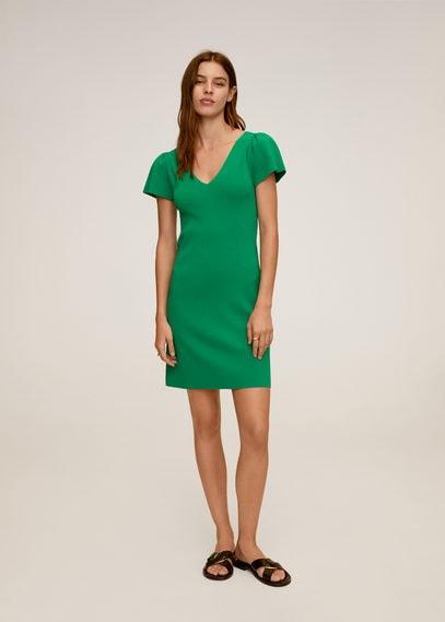 Платье с присборенными рукавами - Frills