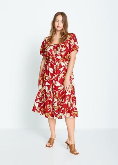 Платье с тропическим принтом - Bucara