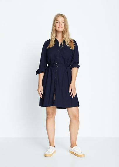 Платье-рубашка с ремешком - Gemma
