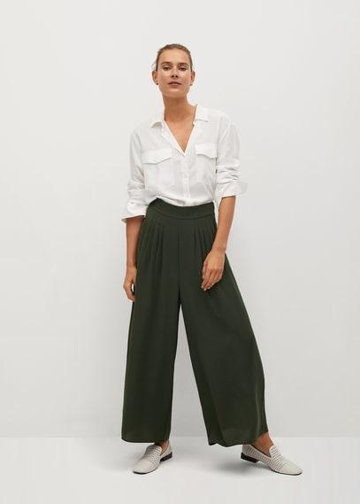 Плиссированные брюки-кюлоты - Areva