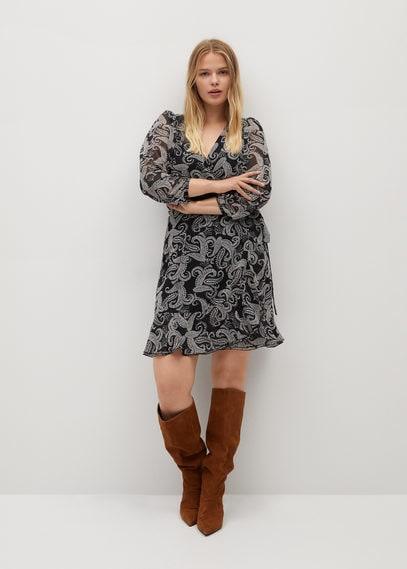Струящееся платье пейсли - Zebre7