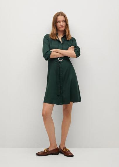 Платье-рубашка с ремешком - Cros