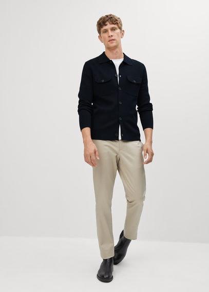 Рубашка из тонкого трикотажа - Topcoat