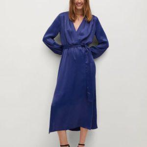 Атласное платье с запáхом - Satin-a